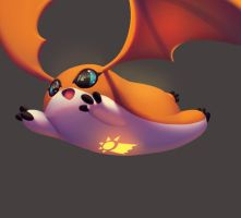 One face a day 105/365. Patamon (digimon) by Dylean