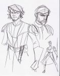 Clone Wars Anakin and ObiWan by Hodges-Art