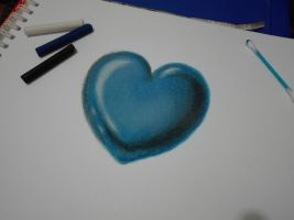 Catherine's blue heart by IsmaelContreras