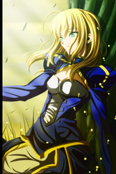 Arturia Pendragon - Sunset by Ric9Duran