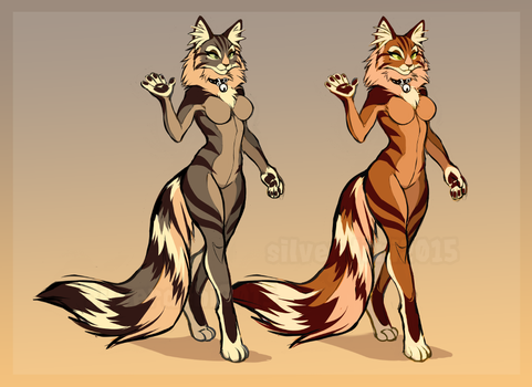 [SOLD] Forest Cat character for sale by SilverDeni