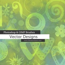 Vector Designs Photoshop and GIMP Brushes by redheadstock