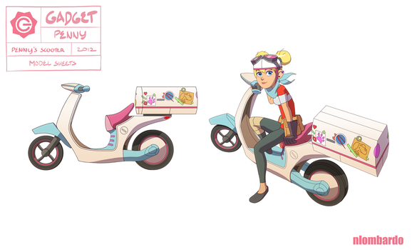 Inspector Gadget : Penny : Penny's Scooter by nlombardo