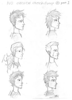 PJO sideview sketchdump part 1 by choco-junk