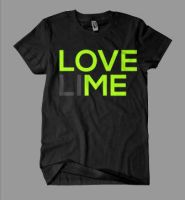 LOVE (LI)ME T-Shirt Typo by 2NiNe