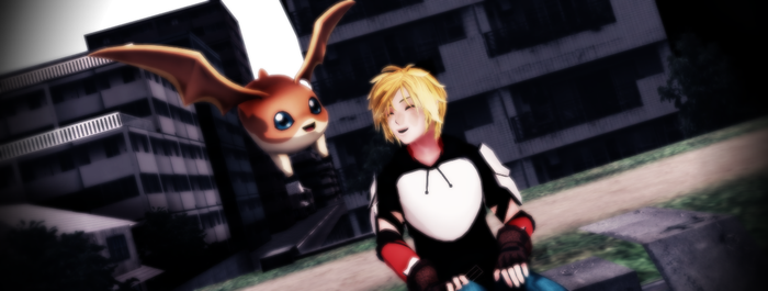MMD RWBYxDigimon: .:Jaune and Patamon:. by Digi-TheSaiyan