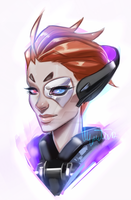 Had to draw Moira after seeing her teaser! by Myrmidiaart