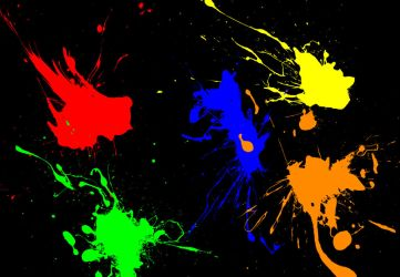 Paints Mess Wallpaper by Malkorkain
