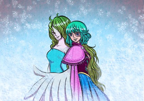 Monet and Sugar (One Piece ~ Frozen crossover) by MajorasMasks