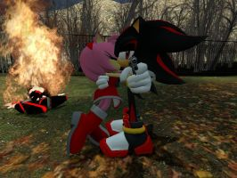 Shadamy Don't mess with amy or else by DaGmodSpartan