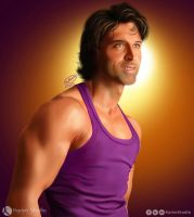 Hrithik Roshan Portrait | Digital Painting by KarimStudio