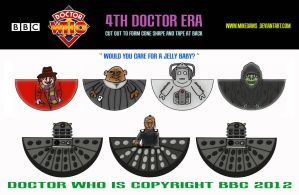 Doctor Who - 4th Doctor Era Models by mikedaws