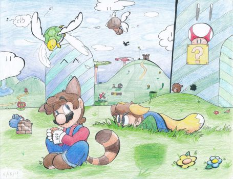 Mario Bros The Plains (Colored) by Creation7X24