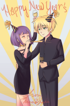 Happy New Year! From Mia and Jake by Dessins-par-Maida