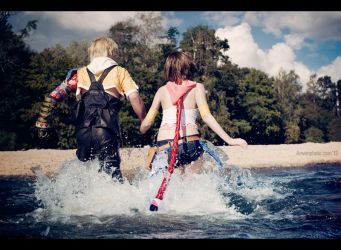 Tidus and Yuna - Towards new story by Narga-Lifestream