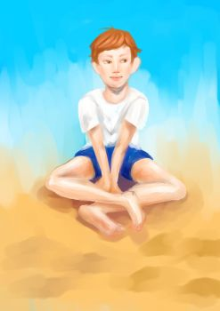 on sand by watermelove