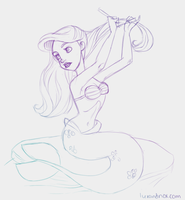 Daily Sketch: Ariel by luxandnox