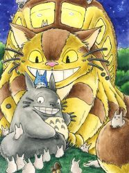 Totoro and the Catbus by Merinid-DE