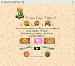 F2U Cagney Carnation Core Code Box by SleepyStaceyArt