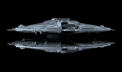 Cylon Basestar 01 by peterhirschberg