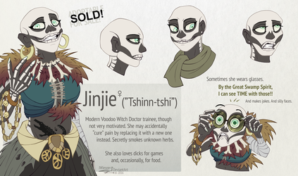 SOLD - Jinjie the Voodoo trainee adoptable by JWiesner
