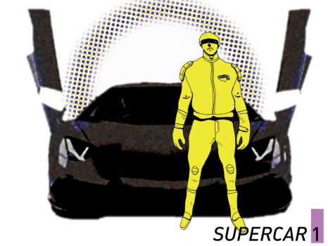 Supercar issue 1 cover by graffittifunk