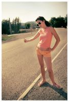 Hitchhiking in the heat by Ciril