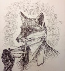 Fox and Tea by zoextxt