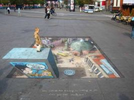 3D Chalk Drawing 1 by ABCalex