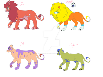 Adoptables (open) by vanillacreations