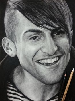 Drawing Pentatonix Mitch grassi (charcoal) by can727