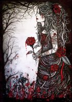 Blood Stained Roses by atahirART