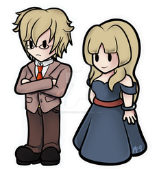 MTMB: Riba and Alice in Paper Mario Style by Marios-Friend9
