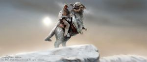 On Tauntaun Back (Widescreen) by Art-deWhill