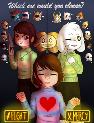 Which one would you choose? - UNDERTALE (remake) by GypsyCuddles
