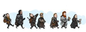 Game of Thrones adventuring party! by kickfoot