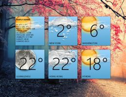 Weather Gadget 2 (multi-location) for xwidget by Jimking
