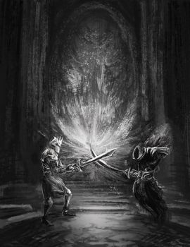 Battling The Outcast King by allisonchinart