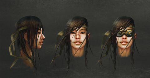 WIP Character Concept AMBER by dchan
