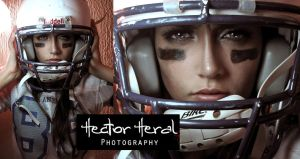 American Football Girl 1 by heral