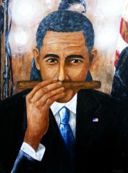 Obama And His Puros by amoxes