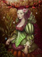 Flora Portrait by Nekranea