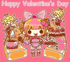 Chocolate Girl With Cupid by BeanPrince