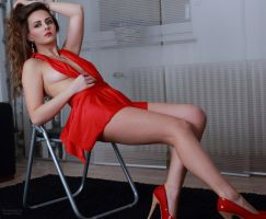 Jana at red dress 33 by PhotographyThomasKru