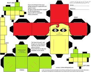 Cubeecraft Person Template by Gizzlobber