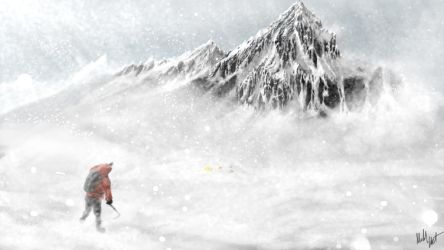Cold Snowy Mountain by Joujeen