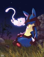 Mew and Lucario