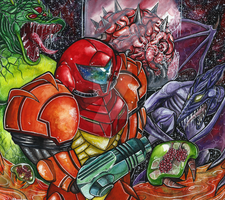 Metroid 1986 by weekdaynachos