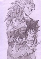 Dragonball z - Goku forms by Matthew25892