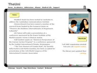 University website template by monstara